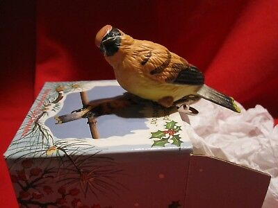 Russ Woodland Winter Collection YELLOW FINCH ClipOn Ornament 15292 IOB