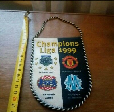 Manchester United Fc Wimpel Pennant Uefa Champions League 1999