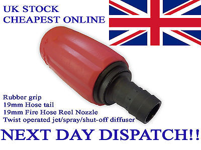 FIRE HOSE Reel NOZZLE NEW Standard 12cm 19mm Universal Jet Spray GardenWash Down