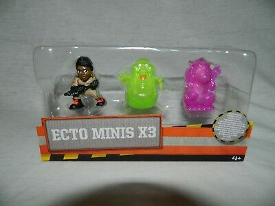 """2016 Ghostbusters ECTO MINIS X3 Patty Tolan Ghost Rat Slimer 2"""" Figures NEW"""