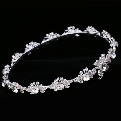 Wedding Prom Crystal Flower Tiara Crown Headdress Headband Hair Accessories
