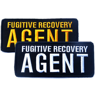 2 Pcs Fugitive Recovery Agent U.s. Army Tactical Morale Badge Embroidered Patch