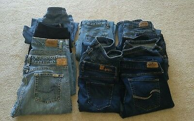 RESELLERS JEAN LOT OF 10 PAIRS OF WOMENS SIZES ONLY Levi American Eagle and more