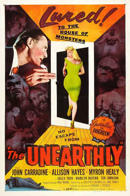 1957 THE UNEARTHLY VINTAGE HORROR MOVIE POSTER PRINT 36x24 9 MIL PAPER