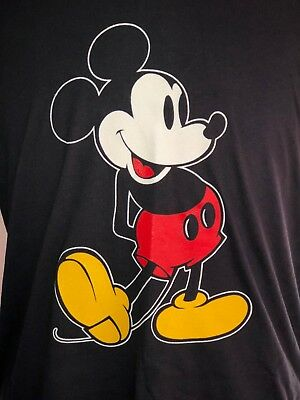 Vtg Mickey Mouse T-shrt 1980s Disneyland Disney World New Deadstock Large Size