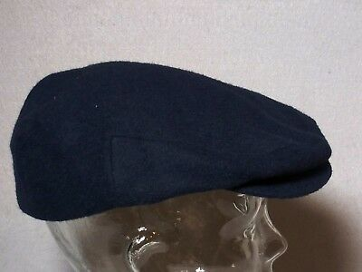 9e674a045891f Vtg Stetson Wool Blend Lined Drivers Flat Cap with Snap Cabbies Hat Men s  Medium