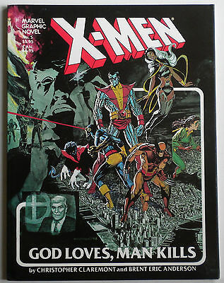 X Men God Loves Man Kills Marvel Graphic Novel 1st Print