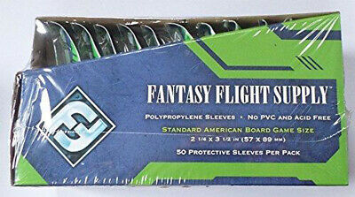 500 Fantasy Flight Games Standard American Board Game Size Sleeves - 10 Packs +
