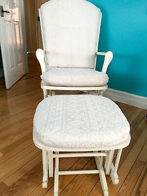 Glider Ottoman Furniture Nursery Chair Baby Rocking Set White