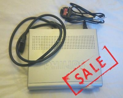 Philips Digital Terrestrial Receiver DTR 1500  Freeview TV  Scart Power Cables