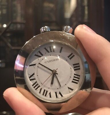 Cartier Vintage Alarm Travel Desk Clock