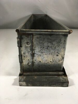 Vintage Steel Plain Pate Terrine Mould Meat Pie Mold 400 MM Made in France