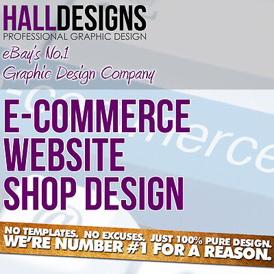 Ecommerce Shop Website Design Service with Domain & Hosting & Email Addresses