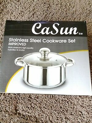 cal sun stainless steel 9inch pot w/top