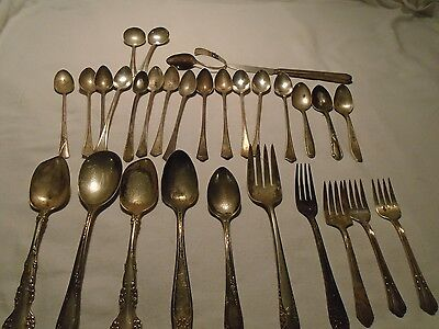Vintage Lot of 30 Silver Plated Silverware