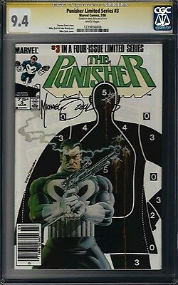 The Punisher Limited Series #3 (NM) CGC 9.4 signed Mike Zeck Amazing 1st Series