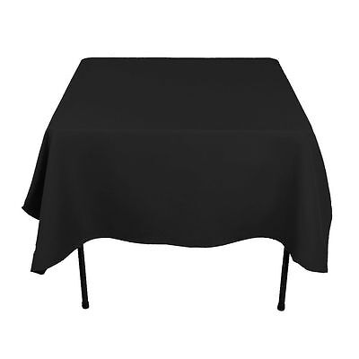 "8 Square Tablecloths 90""x 90"" inch Polyester Party Overlay Banquet 23 COLORS USA"