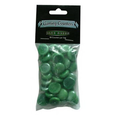Dragon Shield - Opaque Gaming Counters - Jade Green (30 pcs)