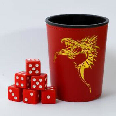 Blackfire Dice - Dice Cup - Red /w Dragon Emblem