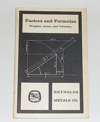 Factors and Formulas: Weights, Areas, and Volumes, Reynolds Metals Co., 1961