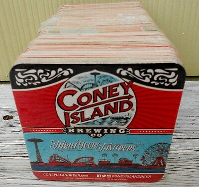 Coney Island Brewing Co Pack Of 100 Bar Coasters New Sealed 2 Sided Brooklyn Ny