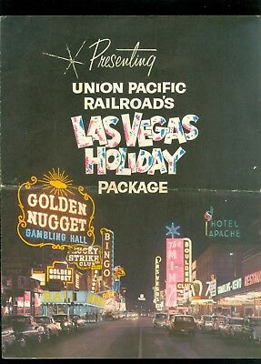 1950s Union Pacific Railroad Las Vegas Holiday Packages Jumbo Trifold Brochure