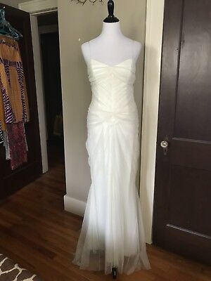 Vera Collection Wedding Dress Vintage Look D Ruched Size Xs