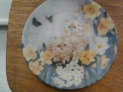 "W S George ""Dancing Daffodils"" Petal Pals by Lily Chang Cat Collector Plate"