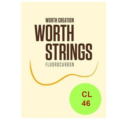 Worth Ukulele Strings Clear FluoroCarbon Light CL 46 inch, Soprano / Concert