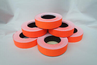 2-50 Rolls Paper Labels **DARK ORANGE** 16x23mm for Motex MX6600/mx6600EOS