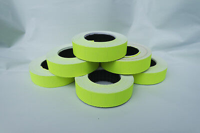 2-50 Rolls Paper Labels **YELLOW** 16x23mm for Motex MX6600/mx6600EOS