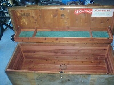 A lane cedar chest with a new replacement lock, has insurance