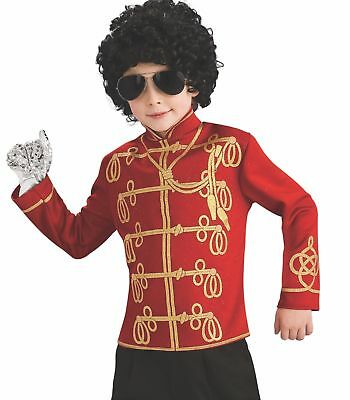 Michael Jackson Child's Value Military Jacket Costume Accessory, Small, Red