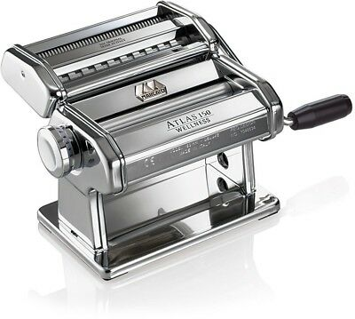 Marcato Atlas Pasta Machine, Made In Italy, Stainless Steel, Includes Pasta And