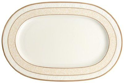 Villeroy & Boch Ivoire Piatto Ovale, 35 cm, Porcellana Bone China, (T2Z)