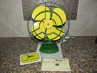 Vtg Green and Yellow Custom Paint Electric Fan John Deere Pocket Notebook+ Decal