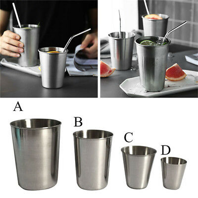 24Pcs Stainless Steel Stemless Wine Glass Cup Drinking Tumbler 30-320ml