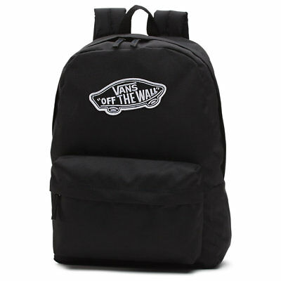 Vans Backpack Realm BLACK Off The Wall Skateboard Surf School Bag FREE POST