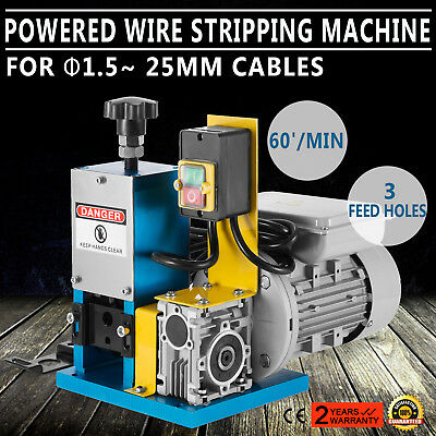 220V Powered Electric Wire Stripping Machine Peeling 55-60 feet/Min Durable