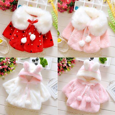 Newborn Infant Baby Girls Winter Warm Snowsuit Coat Hooded Jackets Clothes