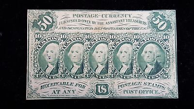 50 Cents USA Fractional Currency 1st Issue Note FR-1312 Choice Note
