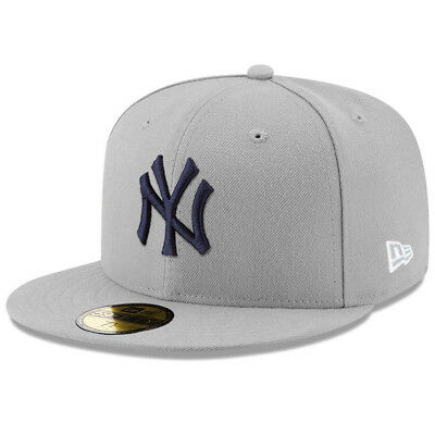 New York Yankees New Era MLB Cool Grey 59FIFTY Fitted Hat - Grey
