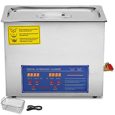 10l Ultrasonic Cleaners Cleaning Jewellery Strong Digital Bath Tank Timer Heat