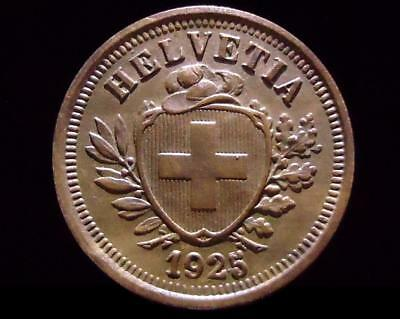 1925/4 Switzerland Rappen, Beautiful Error Coin *high Quality*