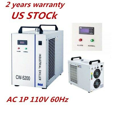 USA S&A AC 1P 110V 60Hz CW-5200DH Industrial Water Chiller for One 8KW Spindle