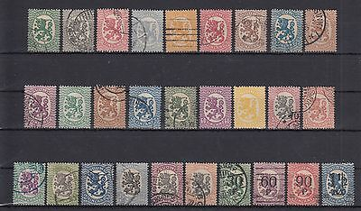 Finland 1917-21 Stamps Short Set Used Hinged No Gum