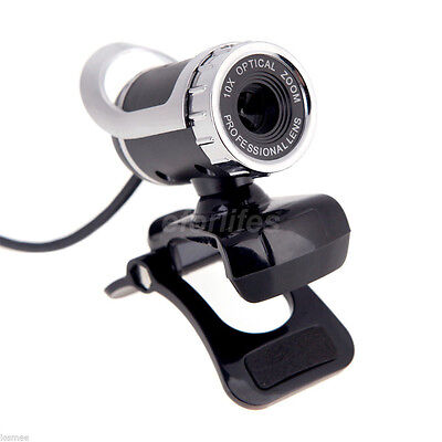50MP USB HD Webcam Web Cam Camera With MIC & Clip For Laptop Desktop PC Computer