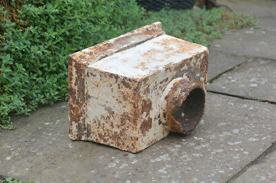 old cast iron drain hopper vintage metal water hopper gulley trap- FREE DELIVERY