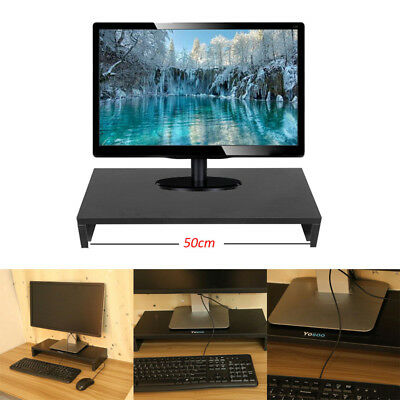 Wooden Monitor Riser Stand Holder Computer Tv Screen Lcd Display