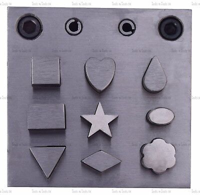 Steel Disc Cutter 9 Assorted Shapes Jewelry Making Designs Pattern Various Forms